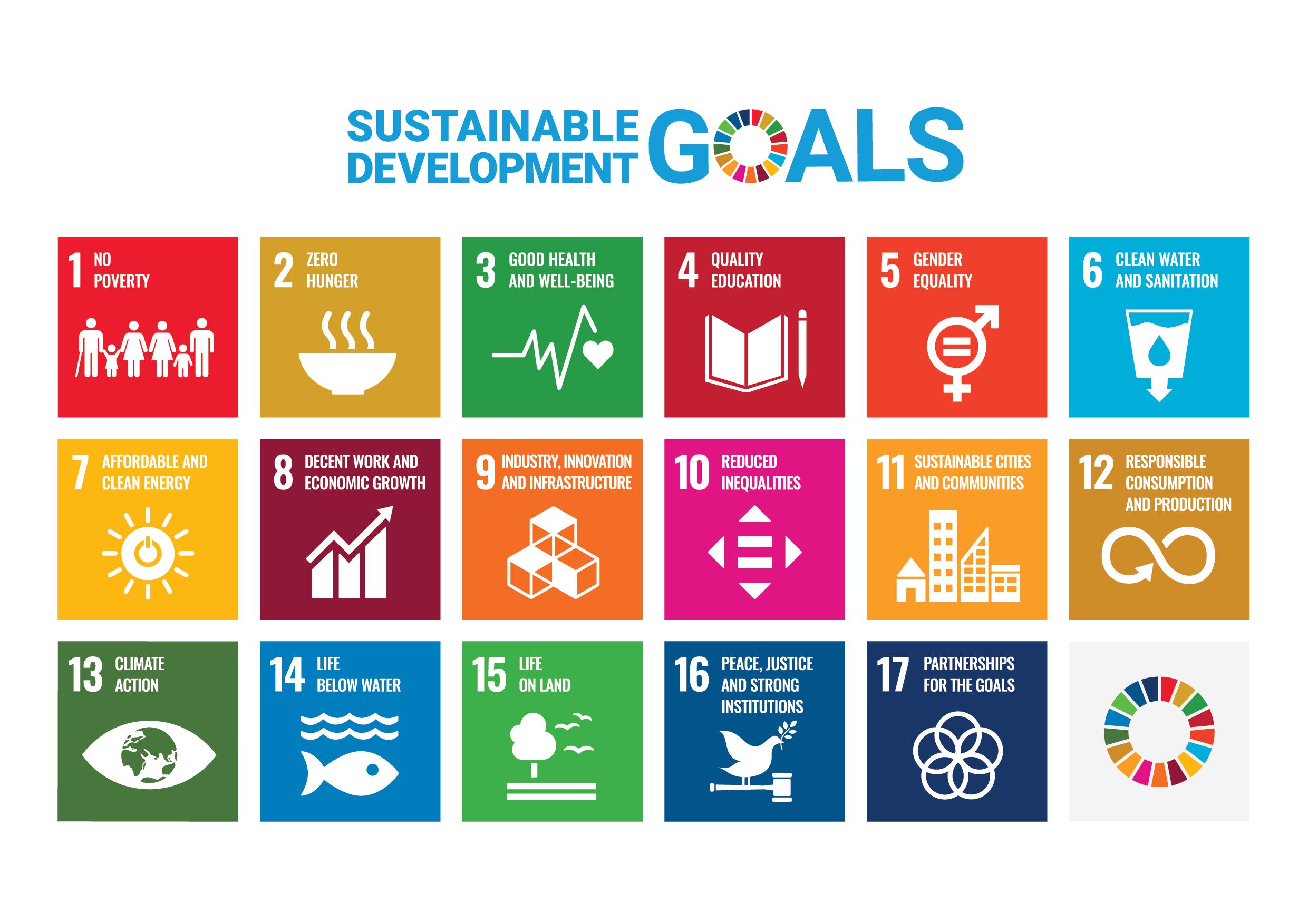 i 17 obbiettivi di sviluppo sostenibile